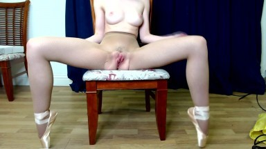 Tiny (REAL) Ballerina Strips and Makes Herself Orgasm