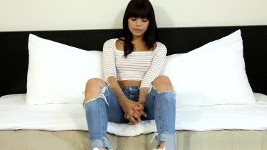 Teen Amateur Banged After Blowing At Casting