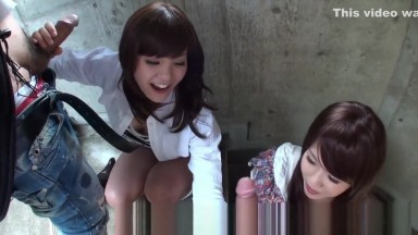 Asian chicks ready to take on two cocks together