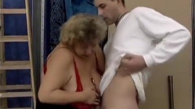 Fat busty granny find young cocks and fuck in pantyhose