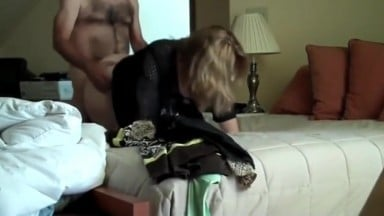 Mature Amateur Wife in Hotel Apartment with Boss On Vacation