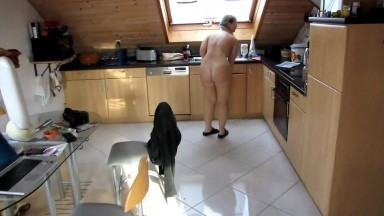 German pawg loves to clean