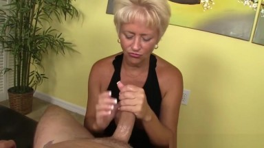 Titfucking Granny Uses Boobs Before Tugging