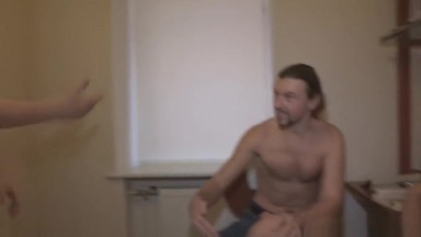 Cheating russian gf fucked while bf watches