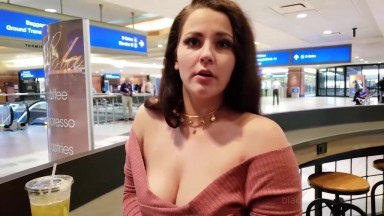 Pale, Chubby And Cute Brunette Pawg Picked Up By Black Fellow