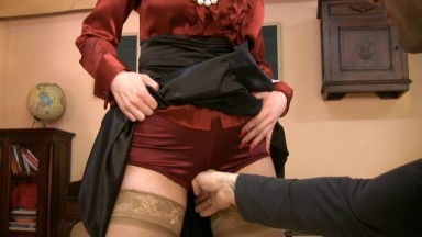 Lustful ugly MILF shows her goods