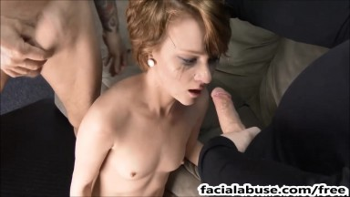 Cute 19 year old face fucked degraded to extreme