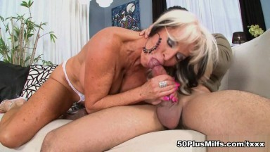 What happens in the 50PlusMILFs.com studio doesn't stay in the 50 - Sally D'Angelo and Rocky - 50PlusMILFs