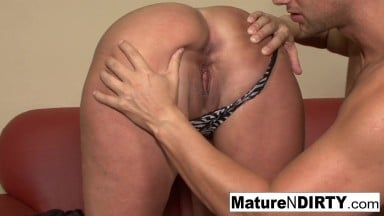 Busty Blonde Grandma Takes It In The Ass - MatureNDirty
