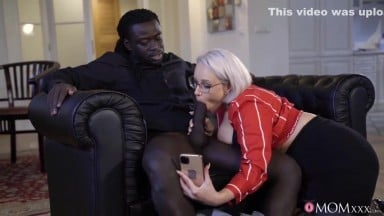 Black Stud Gets Interracial Orgasm With White Blonde - White Angel, Jmac And Angel Wicky