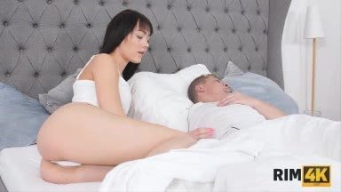 RIM4K. Two sexy sisters give a lucky guy the ultimate rimming pleasure