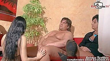 german homemade swinger couple sharing party