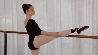 Young ballerina tries anal for the first time