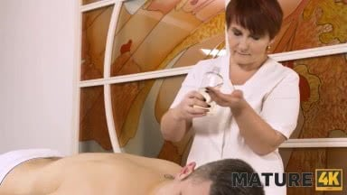 Mature Woman From Massage Parlor Hooks Up With Another Customer